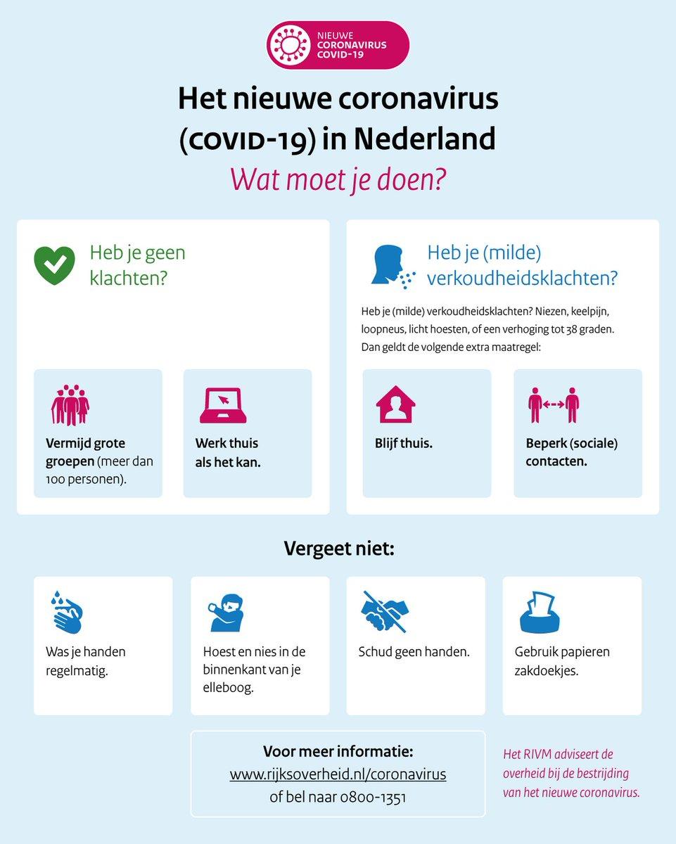 Coronavirus. Wat moet je wel of niet doen