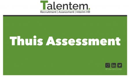 Assessments vanuit huis - Thuis assessment Talentem www.talentem.nl