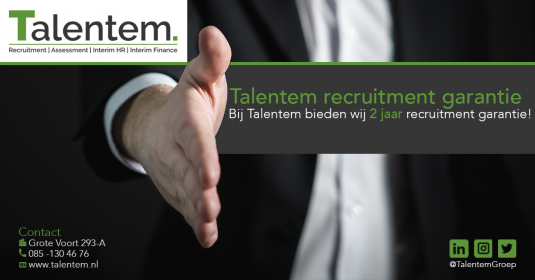 Talentem recruitment garantie